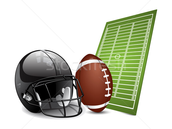 American football design elements Stock photo © gladcov
