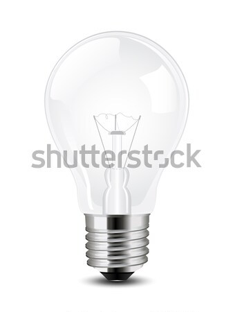 Vecteur ampoule simple fond lampe blanche Photo stock © gladcov
