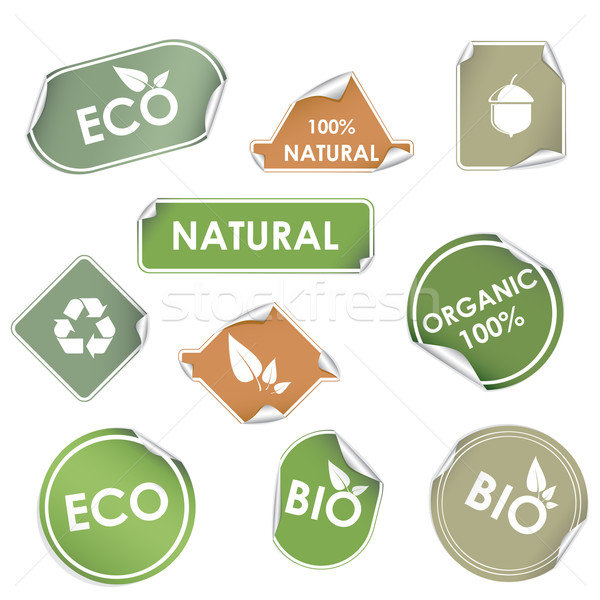 Stock photo: Eco recycling labels