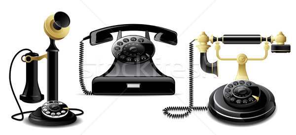 Vintage telephones Stock photo © gladcov