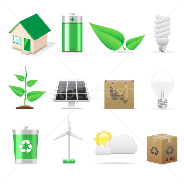Eco icons  Stock photo © gladcov