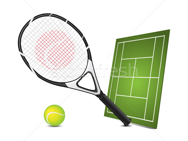 Tennis design elements Stock photo © gladcov