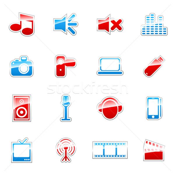 ラベル アイコン Webデザイン セット 世界中 ストックフォト © gladcov