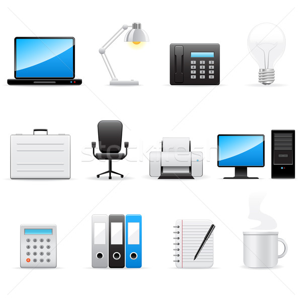Business and office icons Stock photo © gladcov