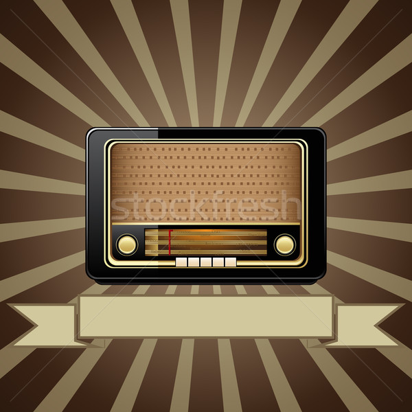 Vector old radio Stock photo © gladcov