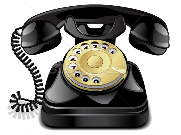 Vector vintage telephone Stock photo © gladcov