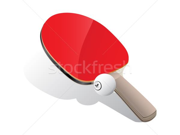 Ping-pong paddle and ball Stock photo © gladcov