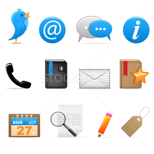 Social media icons Stock photo © gladcov