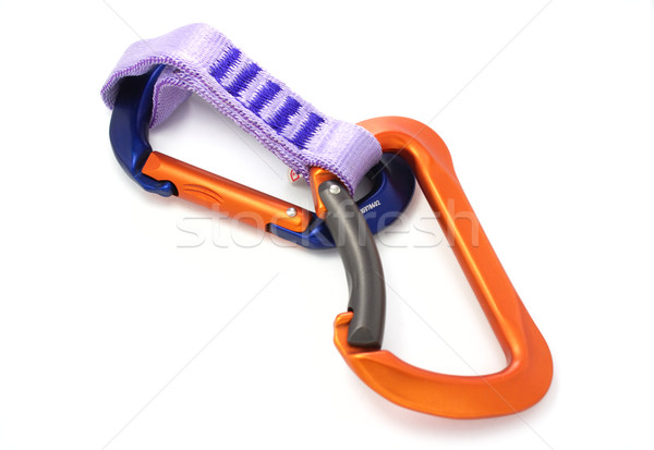 Climbing equipment - two carabiners Stock photo © gladcov