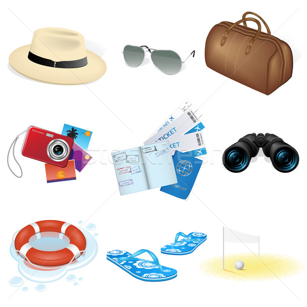 Vector vacation and travel icons  Stock photo © gladcov