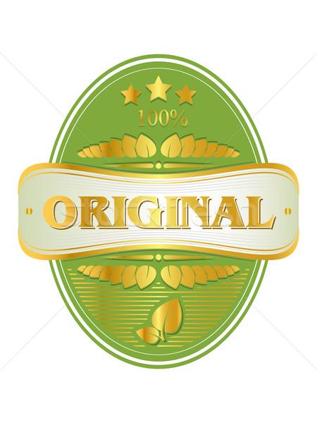 Vektör etiket orijinal ürün tanıtım yaprak Stok fotoğraf © gladcov