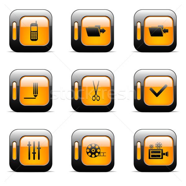 Arancione originale vettore pulsanti web design Foto d'archivio © gladcov