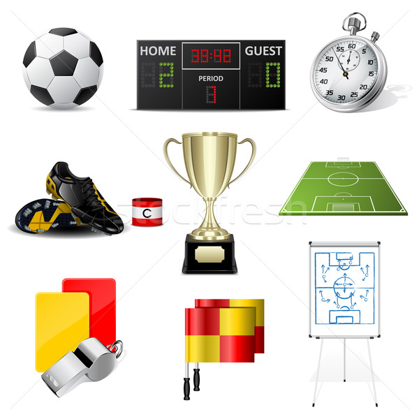 Vector soccer icons Stock photo © gladcov