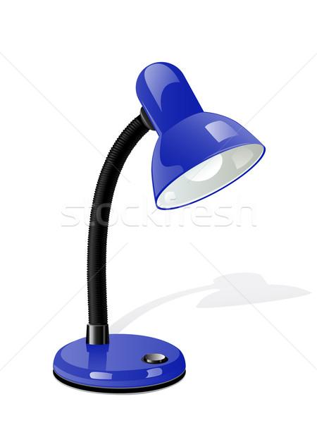 Vektör tablo lamba mavi dizayn büro Stok fotoğraf © gladcov