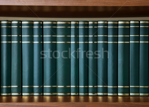 図書 緑 革 背景 グループ ストックフォト © gladcov
