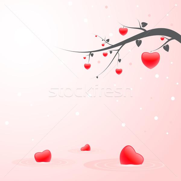 Liefde illustratie Rood harten teken Stockfoto © gladcov