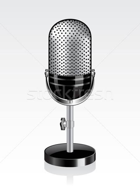 Retro microphone Stock photo © gladcov