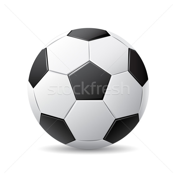 Ballon blanc noir blanche sport football fond Photo stock © gladcov