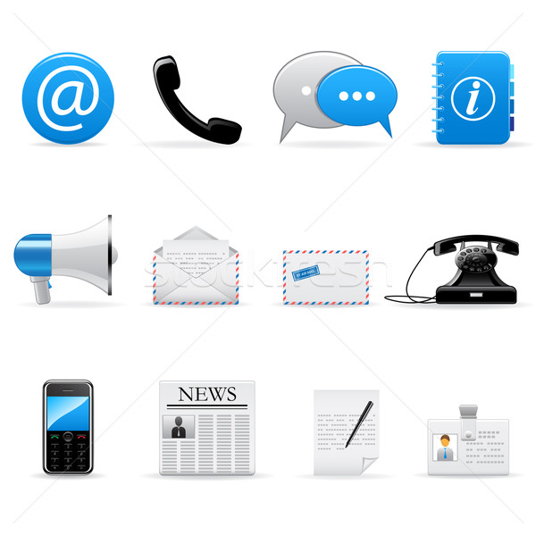 Internet communicatie iconen vector ingesteld web Stockfoto © gladcov