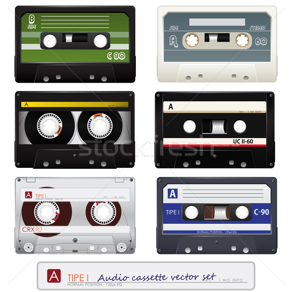 Vector audio cassettes  Stock photo © gladcov