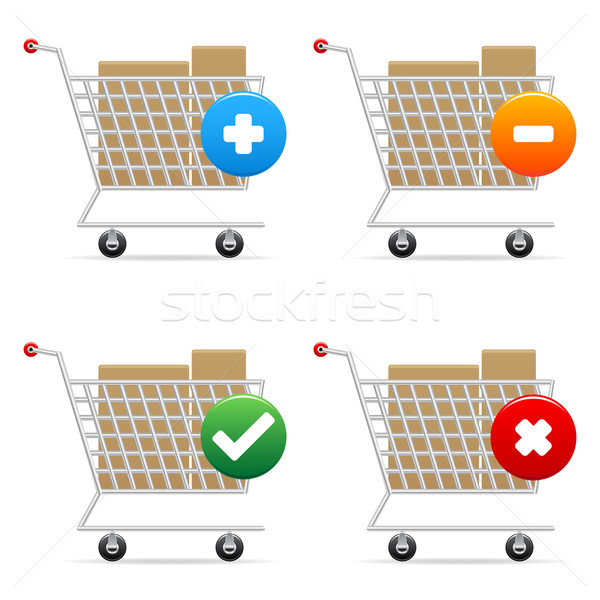 Shopping carts icons Stock photo © gladcov