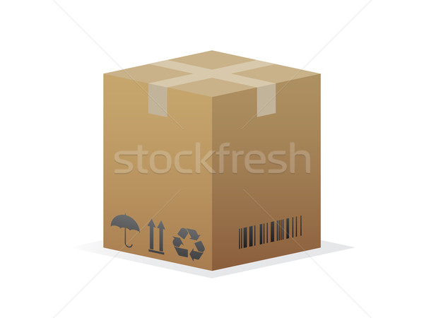 Icône isolé blanche fond boîte Photo stock © gladcov