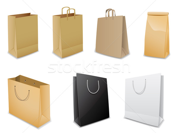 Set of vector paper bags Stock photo © gladcov