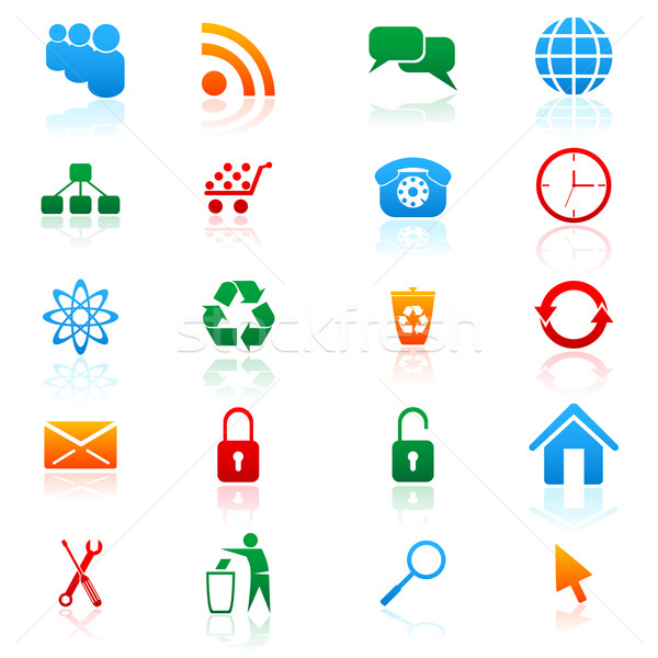 Vector icons Stock photo © gladcov