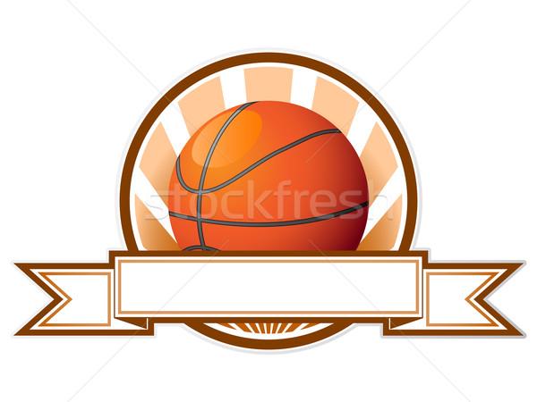 Basketbol amblem top arka plan imzalamak fincan Stok fotoğraf © gladcov