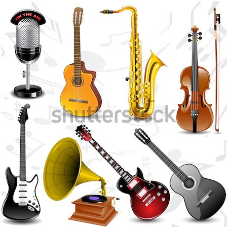 Vector musical instruments Stock photo © gladcov