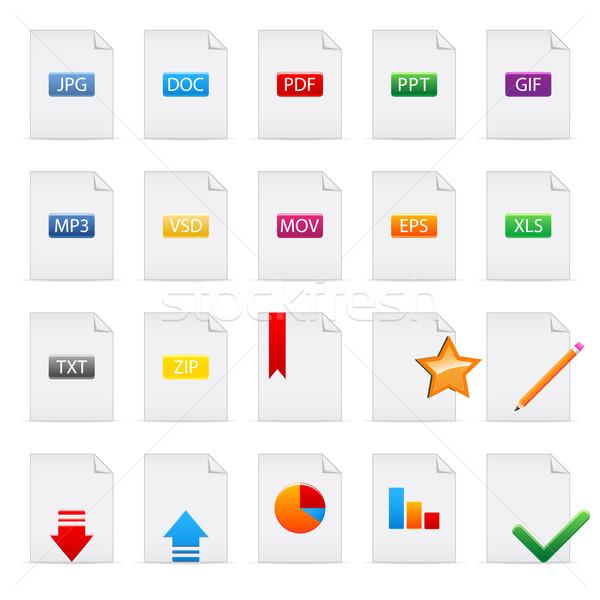 Document icons Stock photo © gladcov