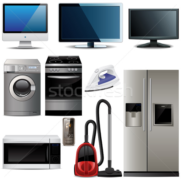 Household electronic elements  Stock photo © gladcov