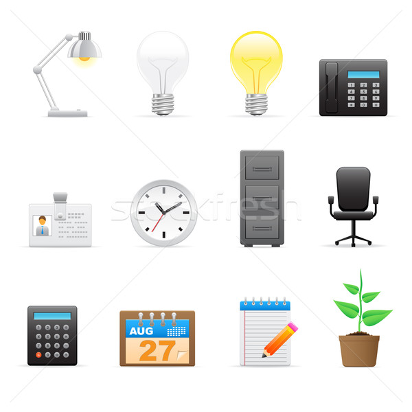 Office icons set   Stock photo © gladcov
