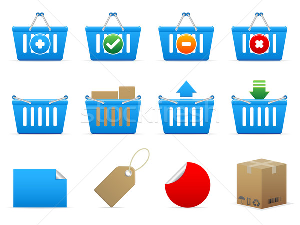 Shopping icons Stock photo © gladcov