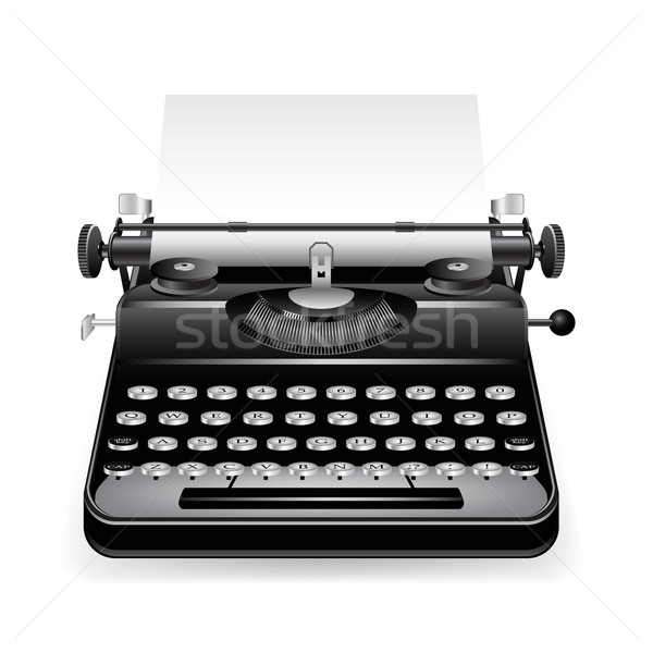 Vector old typewriter Stock photo © gladcov