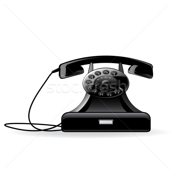 Retro telephone Stock photo © gladcov