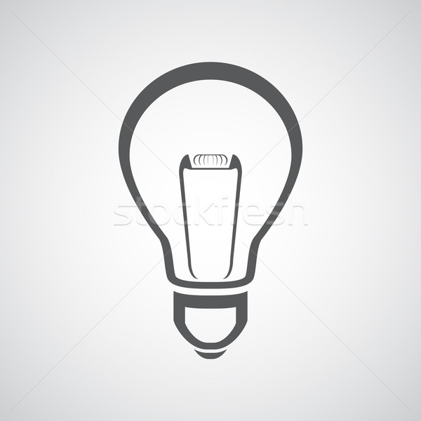 Vector light bulb icon  Stock photo © gladcov