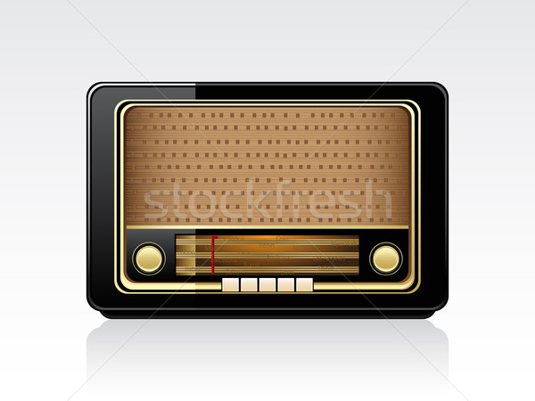 Retro radio vector marrón aislado blanco Foto stock © gladcov