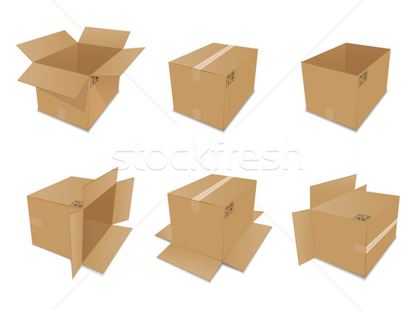 Vecteur carton cases blanche design Photo stock © gladcov