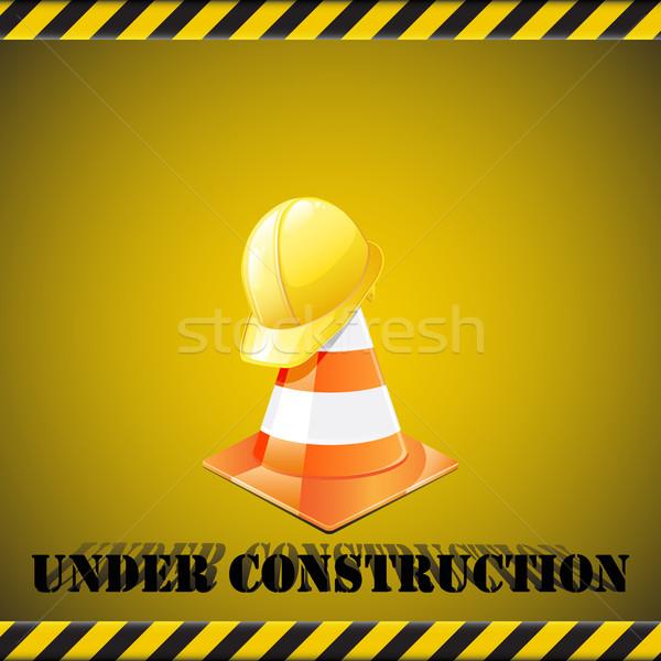 építkezés forgalom védősisak internet absztrakt terv Stock fotó © gladcov