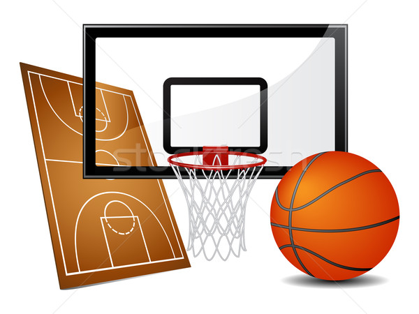 Basketball design elements Stock photo © gladcov