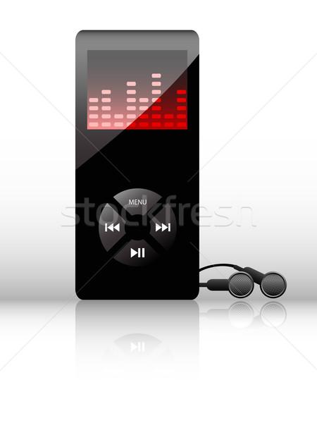 Vektör kulaklık ikon web tasarım bilgisayar müzik Stok fotoğraf © gladcov