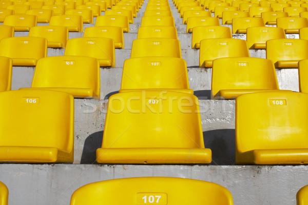 黄色 スタジアム テクスチャ スポーツ 抽象的な 椅子 ストックフォト © gladcov