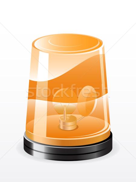 Vektör ışık turuncu beyaz arka plan Stok fotoğraf © gladcov