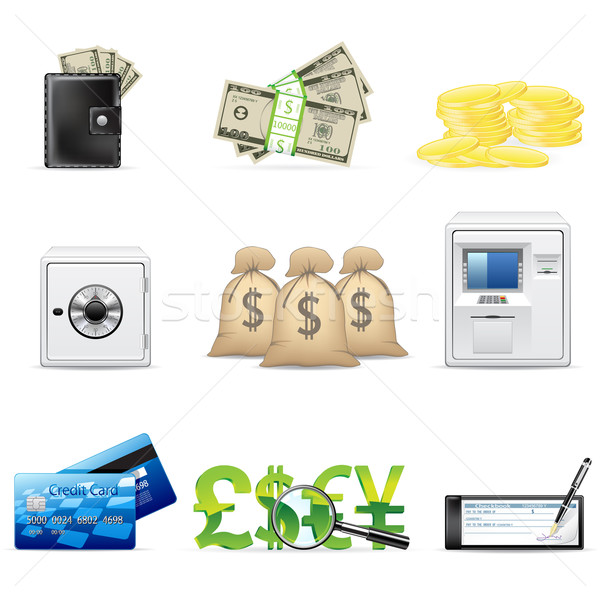 Banking and finance icons Stock photo © gladcov