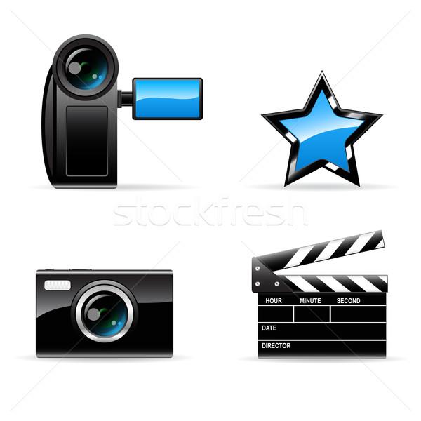 Vidéo photo vecteur icônes télévision Photo stock © gladcov