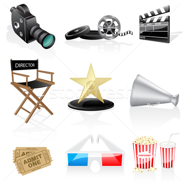 Cinema icons Stock photo © gladcov