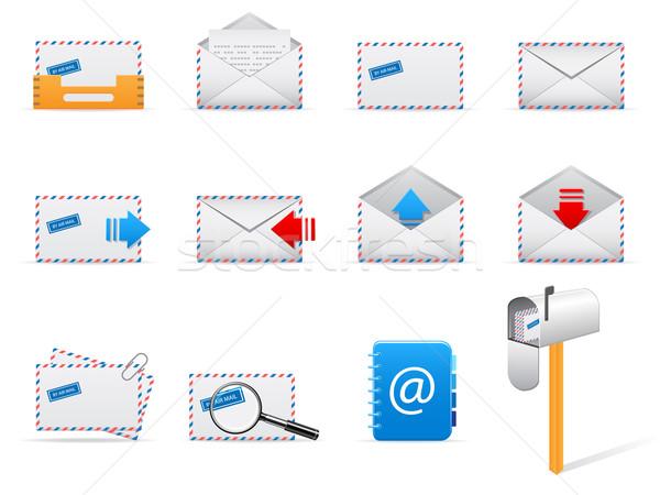 Posta vektör posta kutusu simgeler yalıtılmış Stok fotoğraf © gladcov
