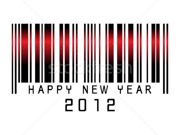 Barkod yılbaşı 2012 happy new year tebrik kartı mutlu Stok fotoğraf © gladcov