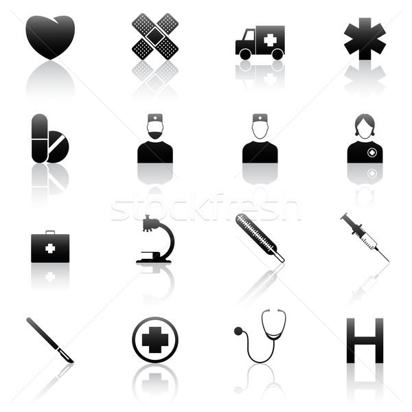 Medical icons Stock photo © gladcov